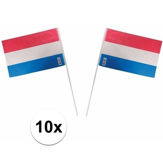 10 rood wit blauwe vlaggetjes