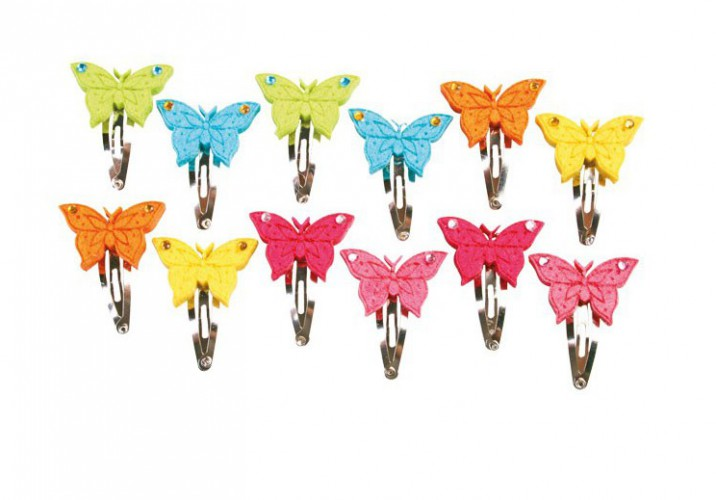12 haarspeldjes met vlinders