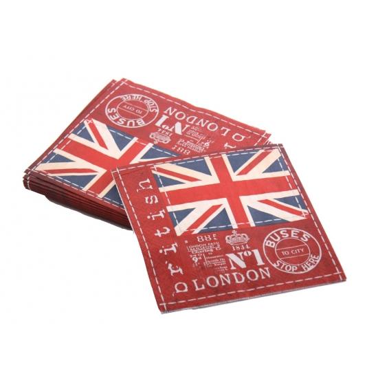 20 servetten met Engeland plaatjes