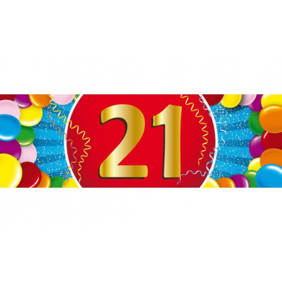 21 jaar sticker