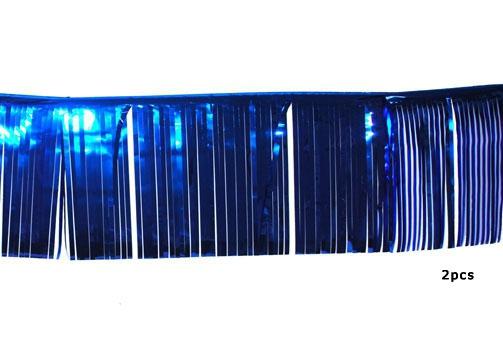 25 x 300 cm glitter slingers blauw 2 stuks