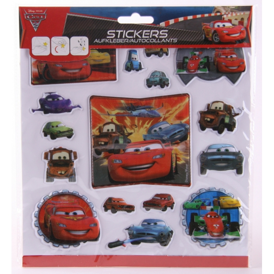 3D stickervellen Disney Cars