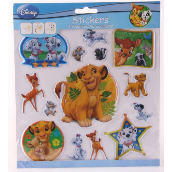 3D stickervellen Disney dieren