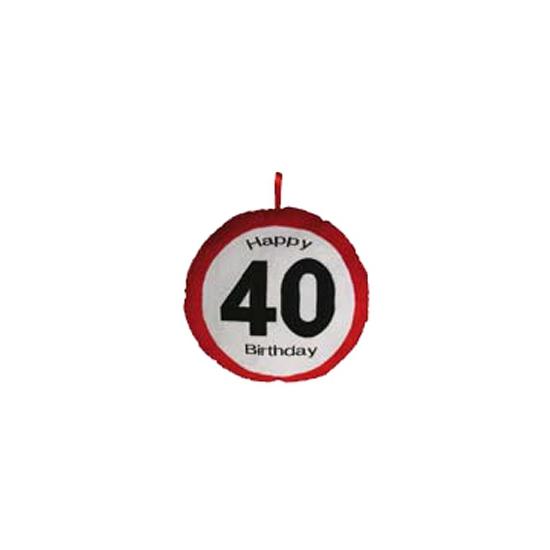 40e verjaardag kussen 30 cm