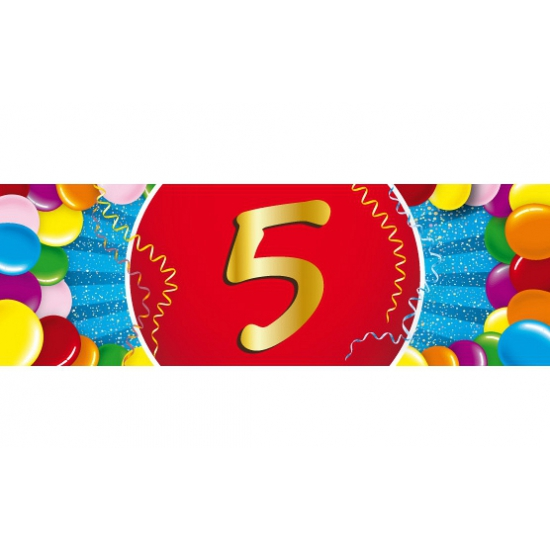 5 jaar sticker