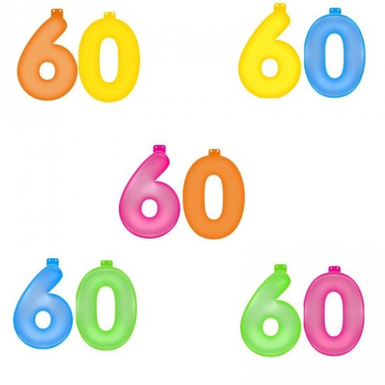 60 jaar versiering opblaascijfers