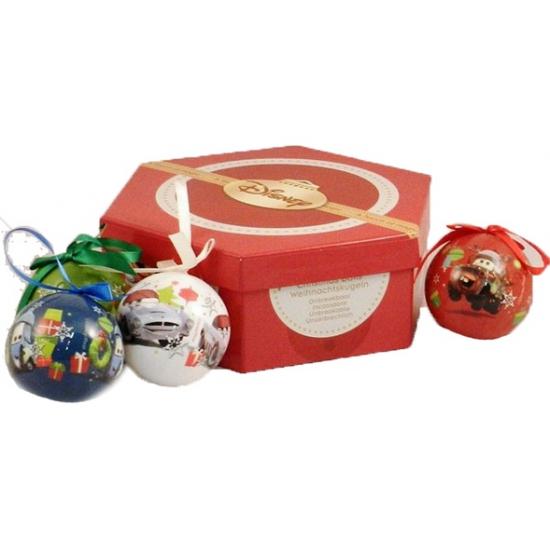 7 Cars kerstballen in giftset