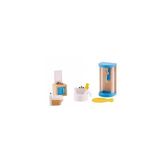 7 delige poppenhuis meubelset badkamer