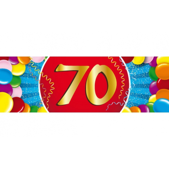 70 jaar sticker