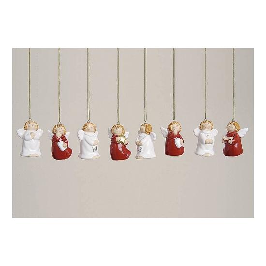 8 engeltjes kerstboom hangers