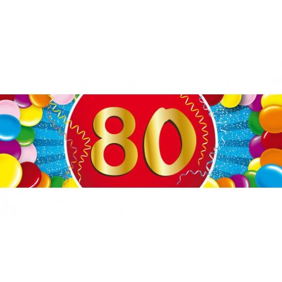 80 jaar sticker