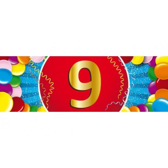 9 jaar sticker