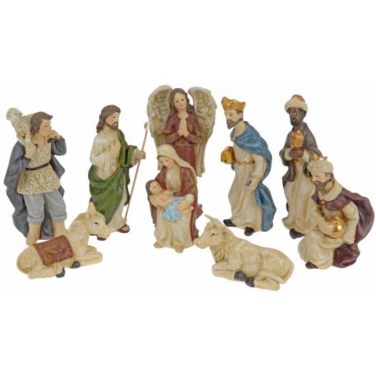 9 kerststal beeldjes 10 cm