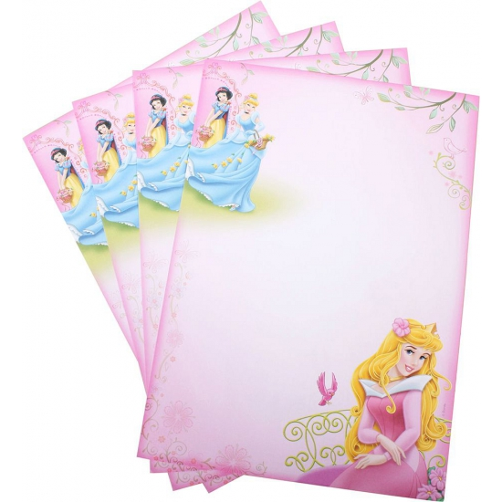 A4 schrijfpapier met plaatjes van Disney Princess 20 vellen