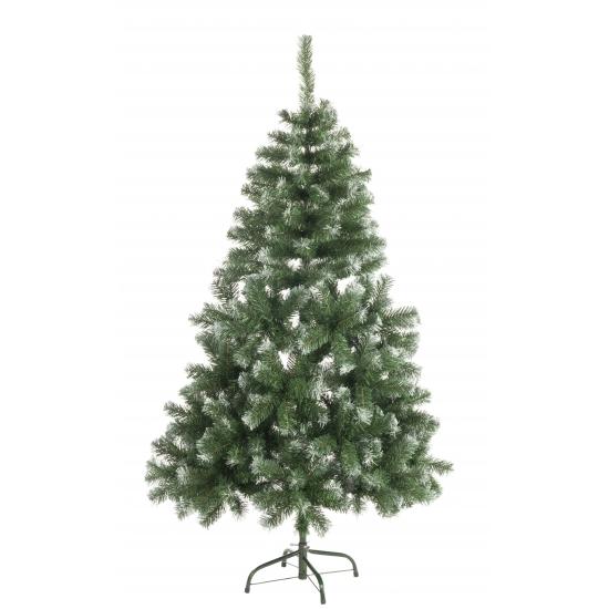 Abies kunst kerstboom 120 cm met witte uiteinden