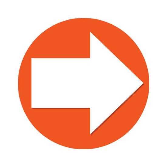 Accent pijl sticker oranje 14 8 cm