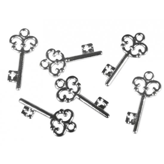 Acryl huis sleuteltjes 2 3 cm