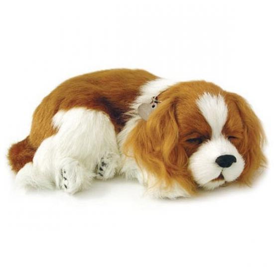 Ademende knuffel hond Cavalier King Charles