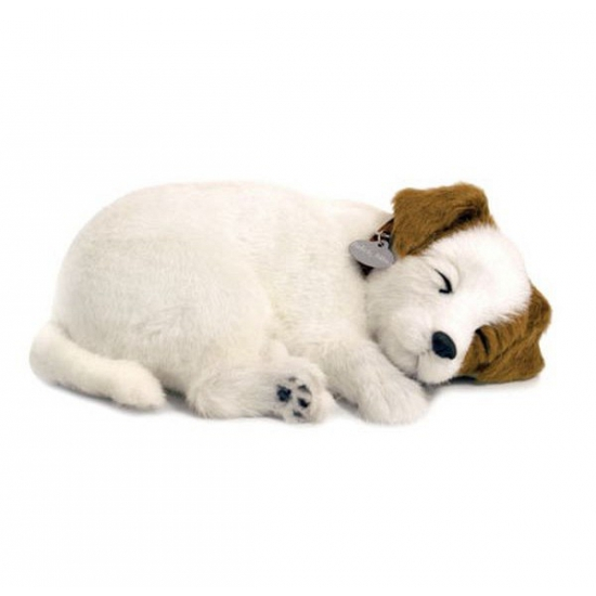 Ademende knuffel hond Jack Russel