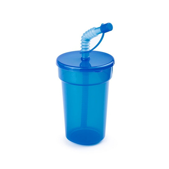 Afsluitbare dinkbeker blauw 400 ml