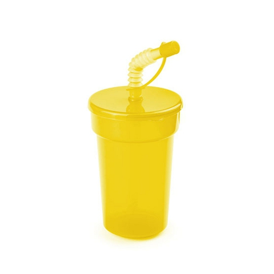 Afsluitbare dinkbeker geel 400 ml