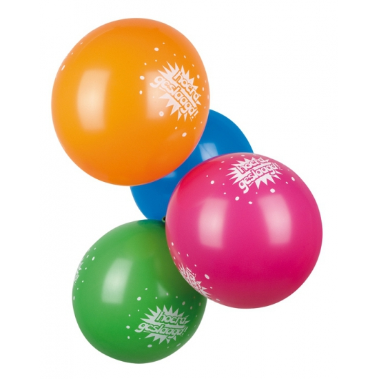 Afstudeer ballonenn 6 stuks