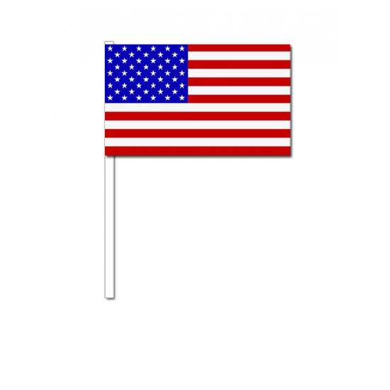 Amerika zwaai vlaggetjes 12 x 24 cm