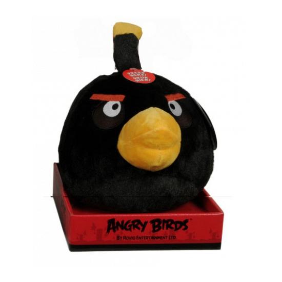 Angry Bird knuffel van pluche zwart