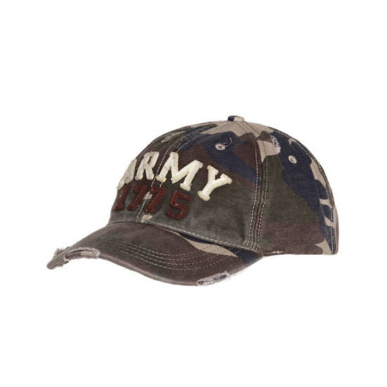 Army petten met legerprint