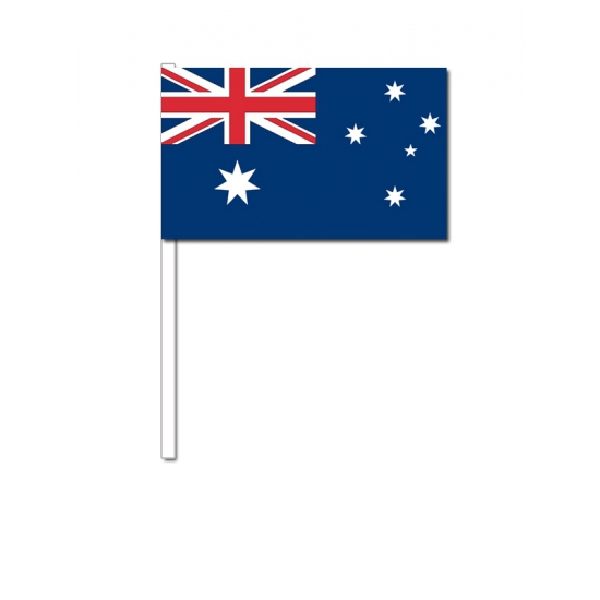 Australie zwaai vlaggetjes 12 x 24 cm