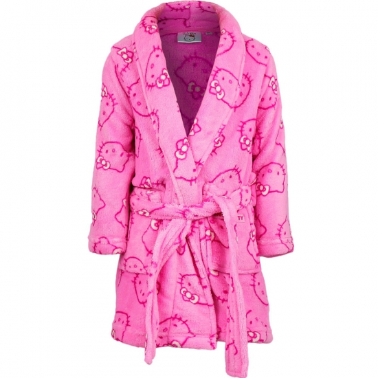 Badjas Hello Kitty licht roze