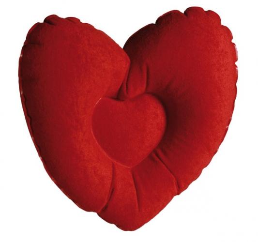 Badkussen rood hart 35 cm