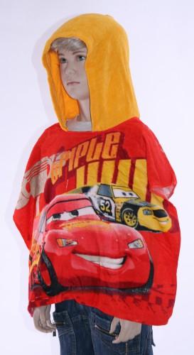 Badstoffen poncho Cars voor kinderen