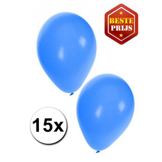 Ballonnen blauw per 15 stuks