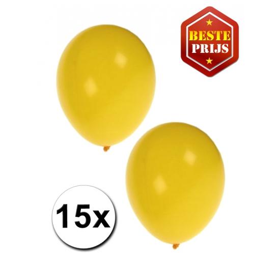 Ballonnen geel per 15 stuks