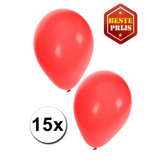 Ballonnen rood per 15 stuks