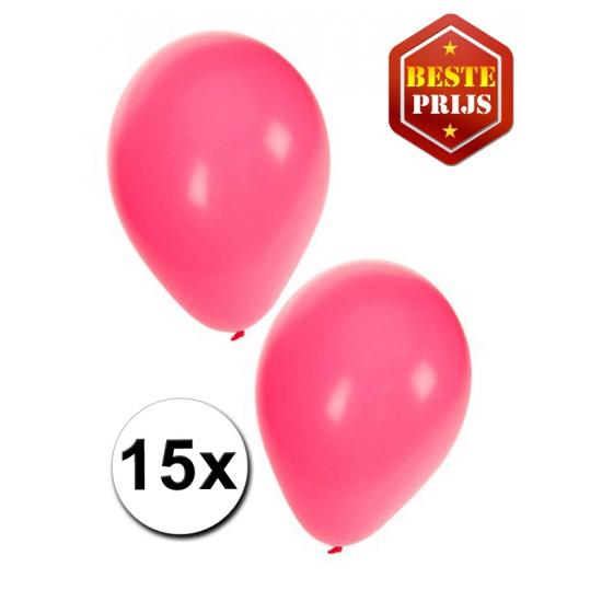 Ballonnen roze meisjes per 15 stuks