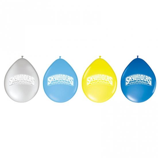 Ballonnen voor kinderfeestje van Skylanders 8 stuks