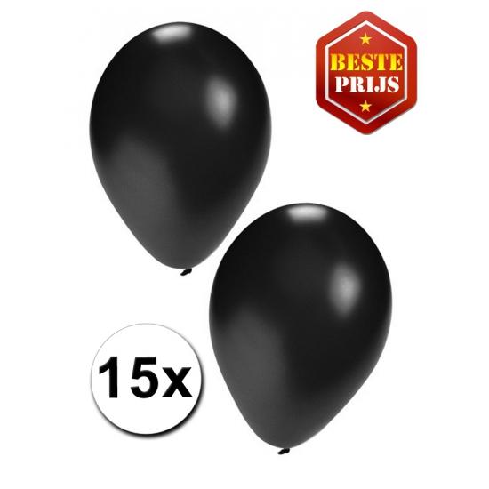 Ballonnen zwart per 15 stuks