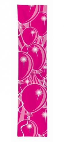 Banner ballonnen roze 60 x 300 cm