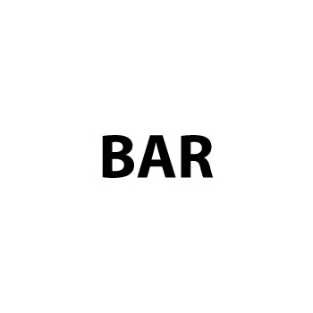 Bar sticker A8 formaat