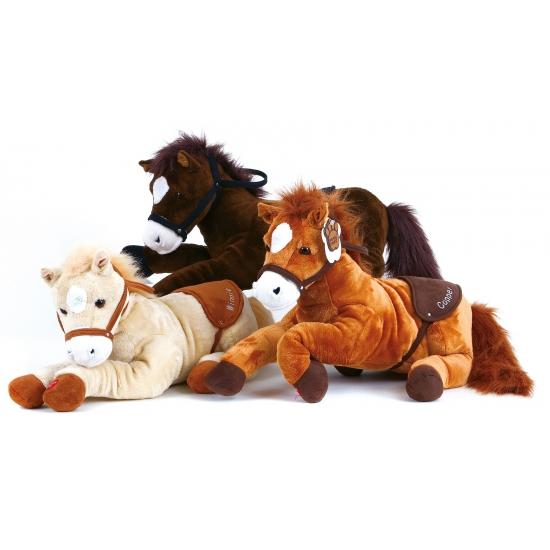 Beige paarden knuffel met geluid