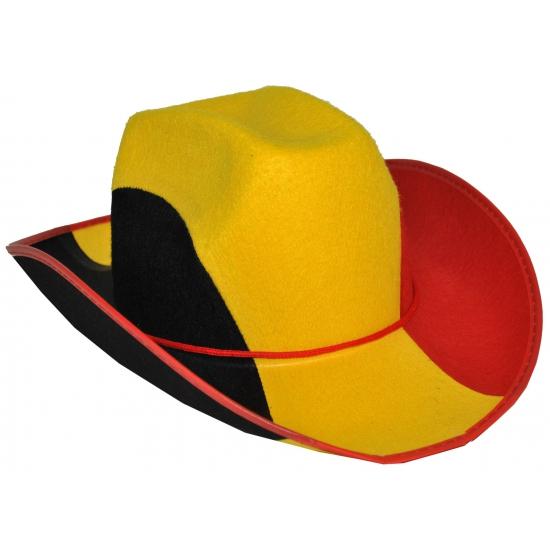 Belgie cowboyhoeden voor volwassenen