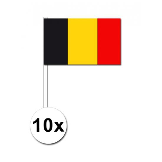Belgie zwaai vlaggetjes 10 stuks