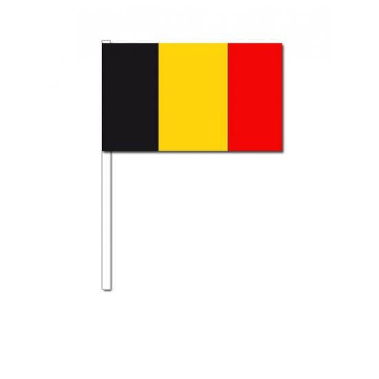 Belgie zwaai vlaggetjes 12 x 24 cm