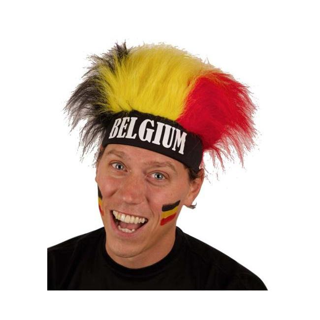 Belgische supporters pruik