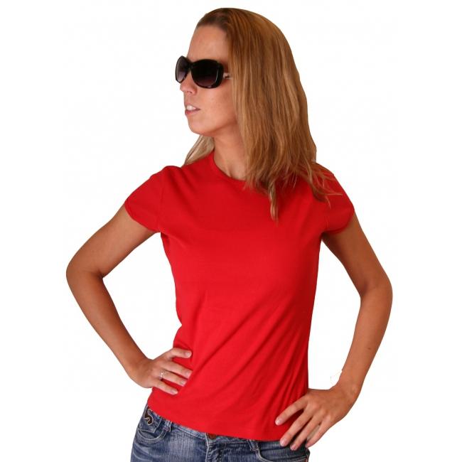 Bella t shirt voor dames in het rood