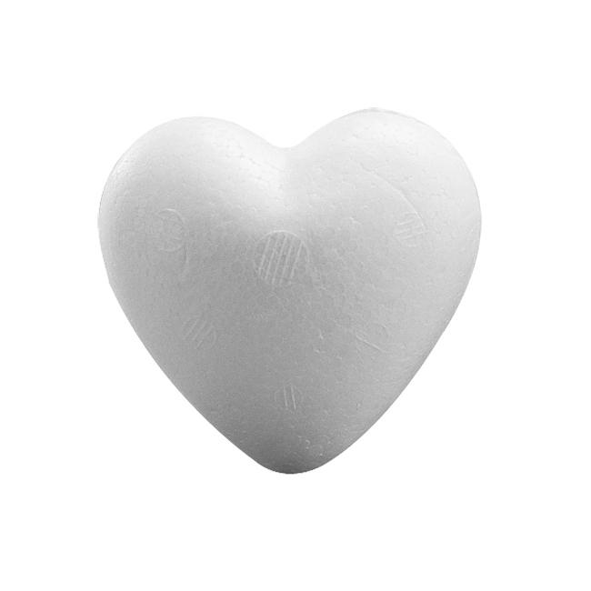 Beschilderbaar styrofoam hart 15 cm