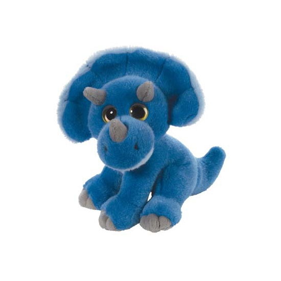 Blauwe dino knuffeldier 18 cm