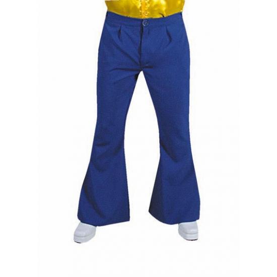 Blauwe disco heren broek